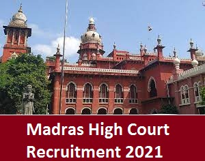 Madras High Court Office Assistant